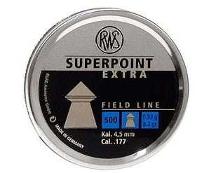 RWS SuperPoint Extra .177 caliber 8.2gr Pointed Pellets